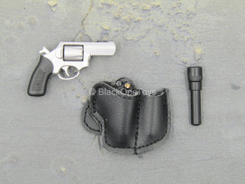 Sully Custom - .38 Revolver w/Black Leather Like Holster & Flashlight
