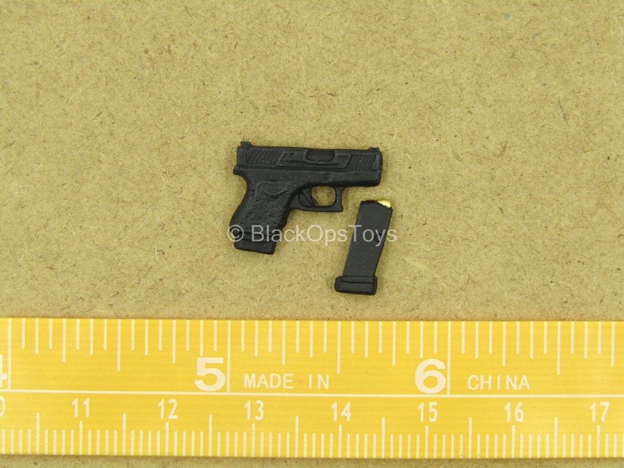 1 12 John Wick Black 9mm Stub Pistol Blackopstoys