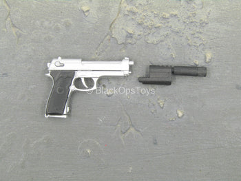 Léon The Professional - Silver-Colored Beretta 92FS Pistol