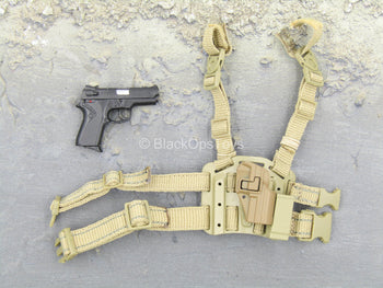 Sully Custom - Black Pistol w/Tan Drop Leg Holster