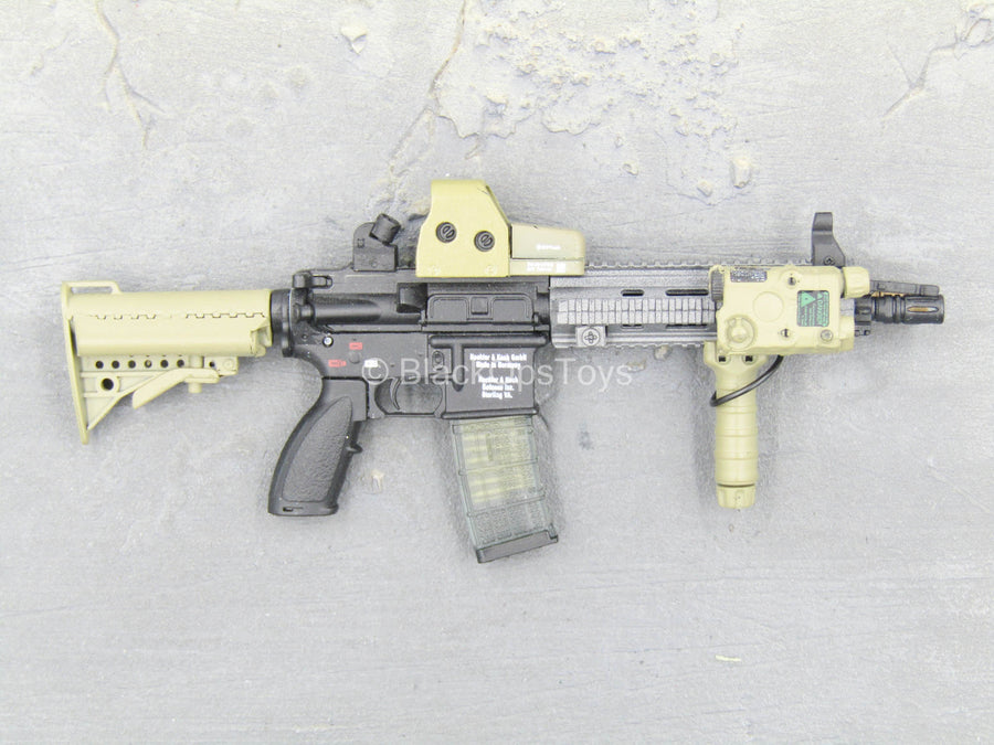 Sully Custom - Tan & Black HK416 Assault Rifle w/Attachments