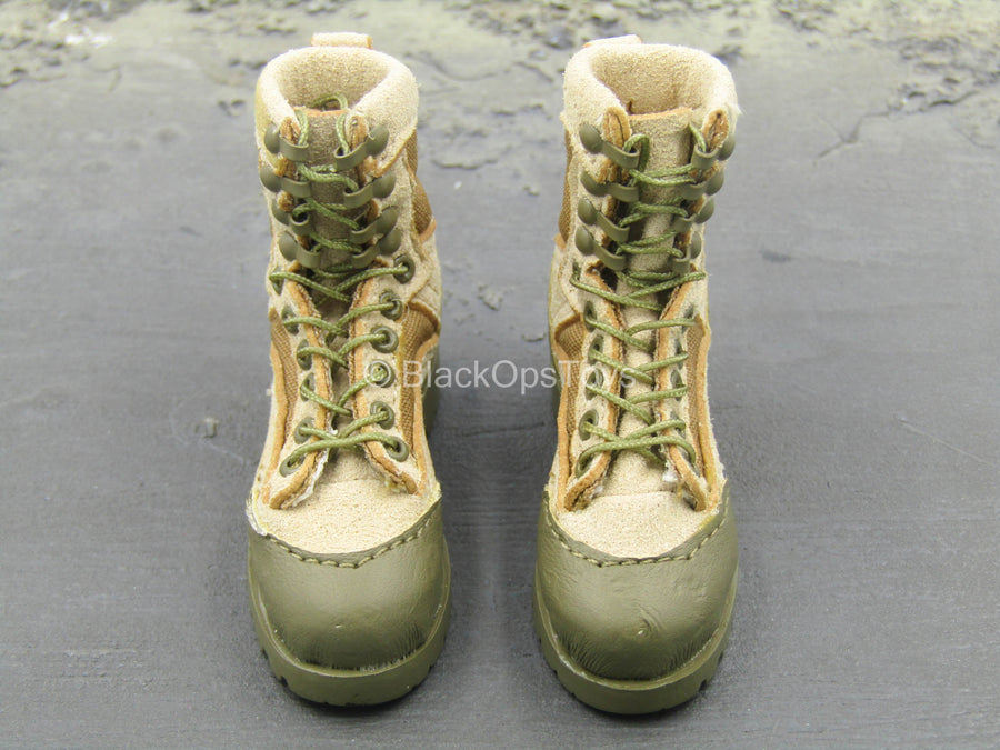 USMC 2nd Expeditionary Battalion - Tan Combat Boots (Foot Type)