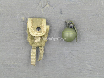 USMC 2nd Expeditionary Battalion - Frag Grenade w/Tan Pouch
