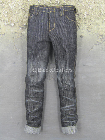 Club 2 - Van Ness SLE - Faded Black Denim-Like Pants