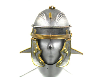 Roman Army - Infantry - Metal Silver & Gold Helmet