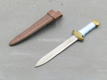 The Barbarian Fighter - Metal Dagger w/Leather Like Sheath