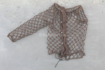 Predator - Male Brown Fishnet Shirt w/Single Sleeve