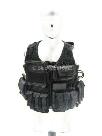 British SAS B Squadron - Black Combat Vest w/Hook & Loop Set