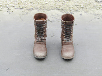 Laura Croft - Female Brown Combat Boots (Peg Type)