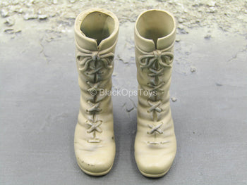 Tan Combat Boots (Foot Type)