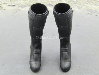 Endgame - Black Widow - Black Knee High Boots (Peg Type)