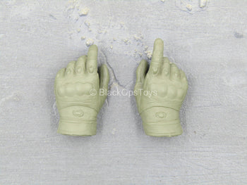 Israeli IDF Givati Brigade - Green Gloved Hand Set (x2)