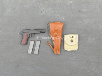 WWII - 101st Airborne Division - 1911 Pistol w/Holster & Mag Pouch