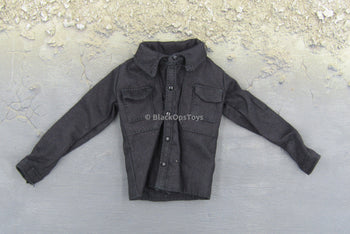 VIP Security Assurance Team Female Black Button Down Long Sleeve Shirt