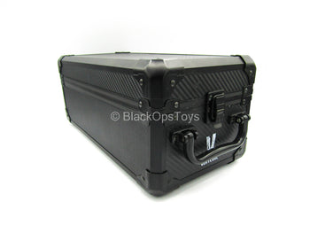 Black Carbon Fiber Like Texture Action Figure Carrying Case