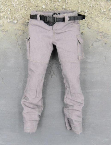 MomToys Zombie Hunter Resident Evil Grey Combat Pants w/Belt