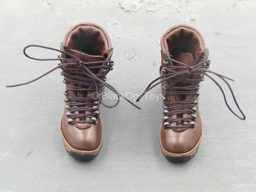 British Marine - Kabul Security - Brown Combat Boots (Peg Type)