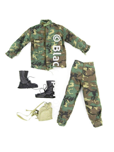 DRAGON TASK FORCE TARAWA Leon Nasiriyah CAMO UNIFORM Lot w/Pouch & BLACK COMBAT Boots