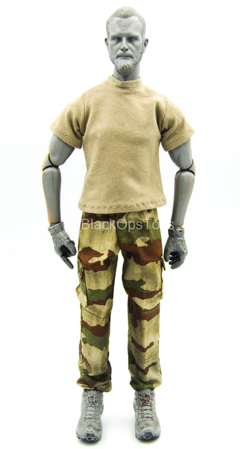 French Special Force - Brown Shirt w/Weathered Desert Combat Pants