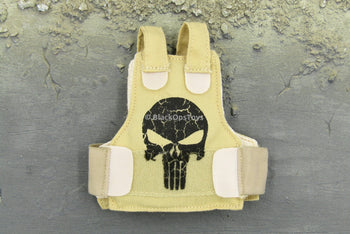 VIP Security Assurance Team Female Tan Skull Vest