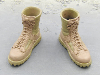 US Navy Corpsman Joint Operation Danner Combat Boots w/Marine Logo and Pegs