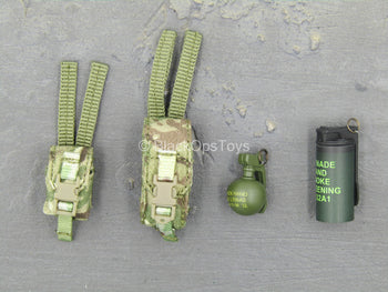 British Marine - Kabul Security - Grenade Set w/MTP Camo Pouches