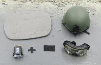 US Navy Corpsman Joint Operation MICH 2000 OD Green Helmet Set