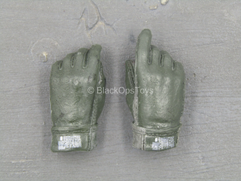 US Navy Seal VBSS - Green Male Gloved Right Trigger Hand Set