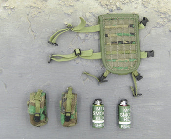 US Navy Corpsman Joint Operation Woodland Camo Drop Leg Set w/Smoke Grenades