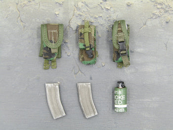 US Navy Corpsman Joint Operation Woodland Camo Ammo Pouch Set