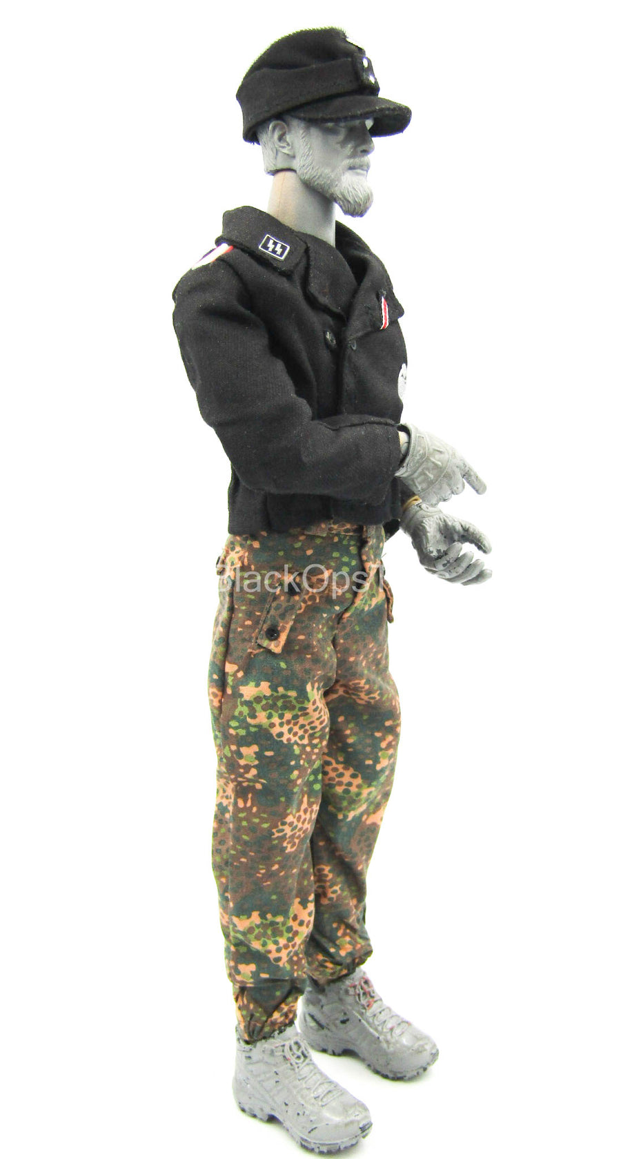 WWII - WIking Division - Black Officer Jacket w/Pea Pattern Pants