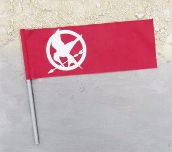 Hunger Games Katniss Everdeen Red Flag Banner