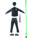LAPD Patrol Officer - Austin - Blue Police Uniform Set