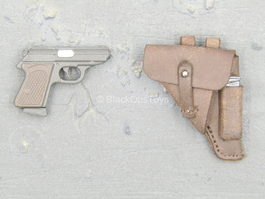 Afrika Female Officer - Walther PPK Pistol w/Leather Like Sheath