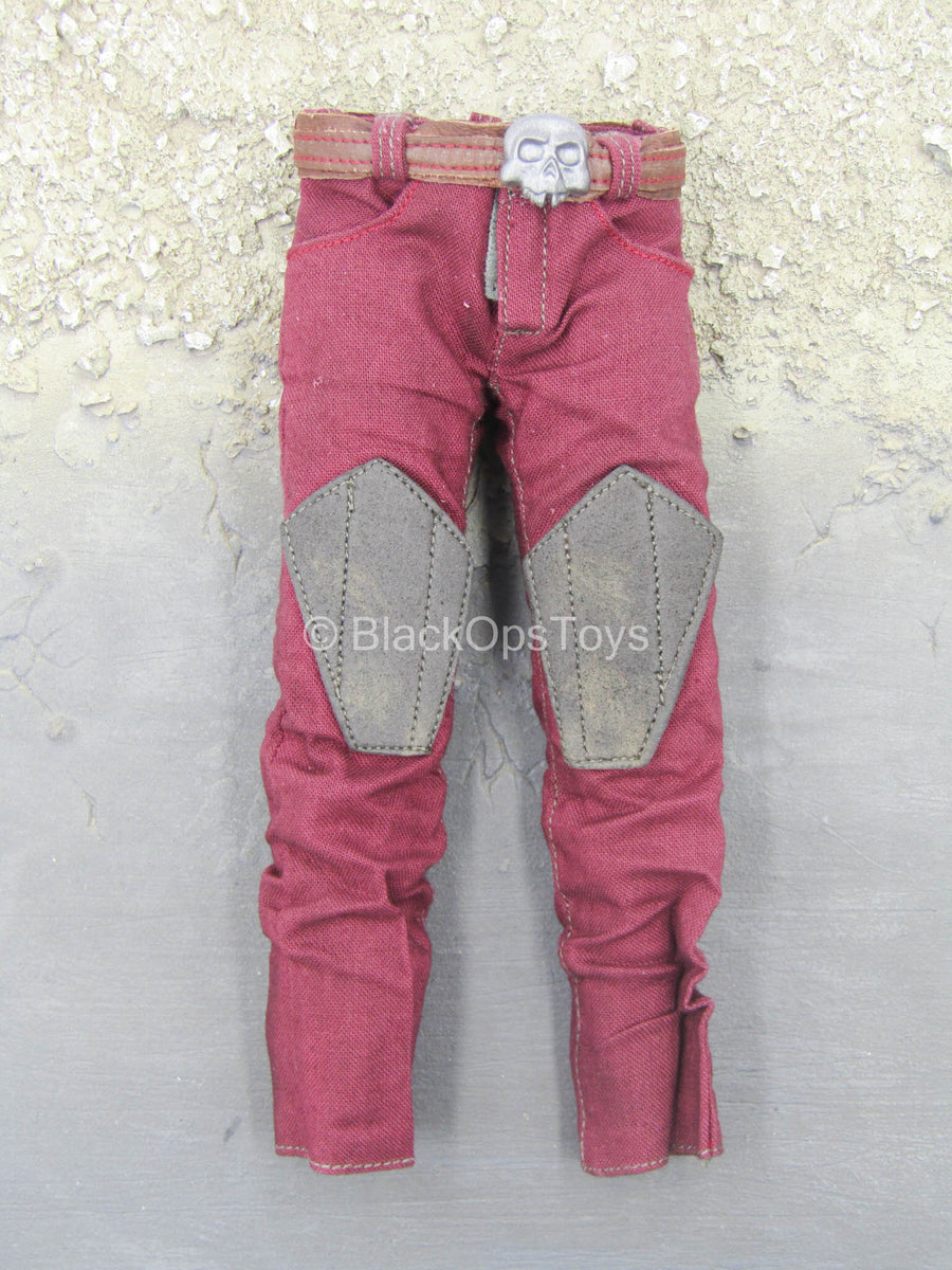 GI JOE - Zartan - Red Combat Pants & Belt w/Skull Detail
