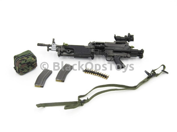 Dam Toys British Army 2016 China Show CICF Minimi Exclusive LIGHT MACHINE GUN Set