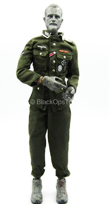 WWII - Panzerjäger NCO - Green Combat Uniform Set