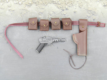 GI JOE - Zartan - Leather Like Belt w/Pistol & Pouch Set