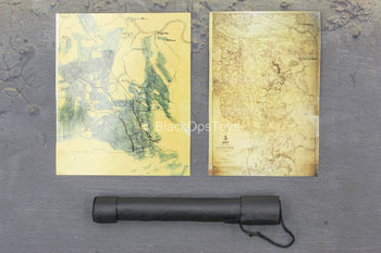 General Ulysses S. Grant - Black Leather Like Map Tube w/Map Set