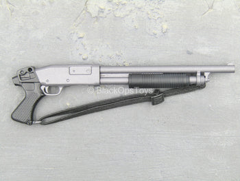 Grey Pump Shotgun w/Black Sling