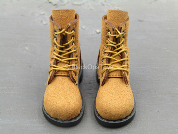 WWII - Tank Division - Brown Combat Boots (Peg Type)