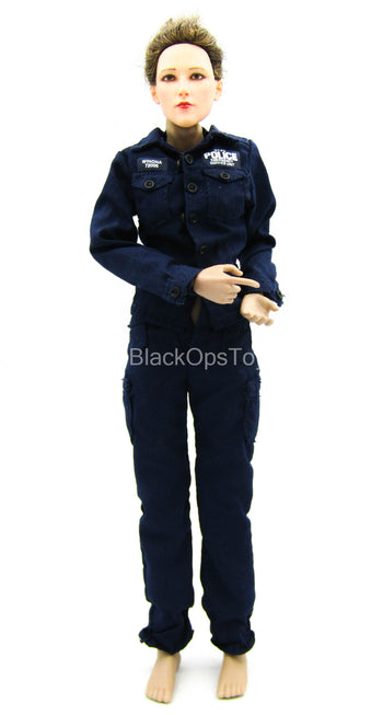Sniper Team Observer - Female Blue Police Uniform Set