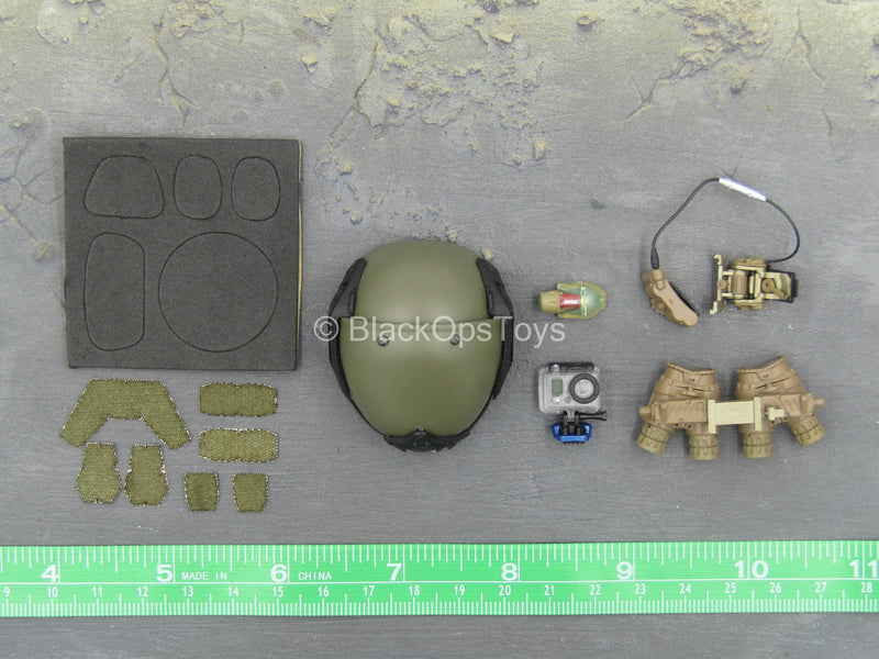 FBI Hostage Rescue - Training - OD Green Helmet w/NVG Set