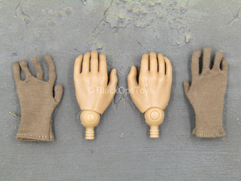 WWII - Tank Division - Male Hand Set w/Brown Gloves