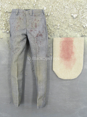 Weathered Bloody Grey Pants w/Bloody Burlap Sack