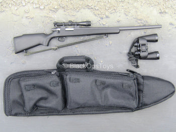 Sniper Team Observer - Black Bolt Action Sniper Rifle w/Rifle Bag