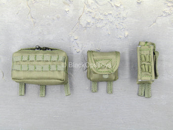 SMU - C.A.G. Breacher - OD Green Radio & Multipurpose Pouch Set