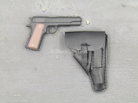 WWII - Tank Division - 1911 Pistol w/Black Magnetic Sheath