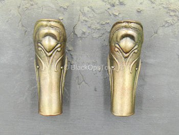 Roman Army - Centurion - Metal Gold Like Leg Greaves