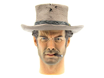 Clint Eastwood - Blondie Head Sculpt w/Removable Cigarette